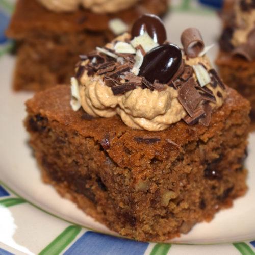 koffieblondies met pecannoten en pure chocola